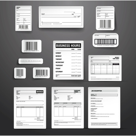 Business template vector set Illustration