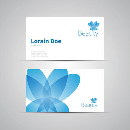Business Card template icon for Beauty Industry Vector