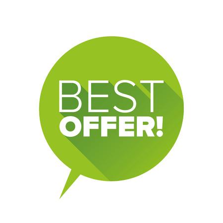 Green Best offer flat design