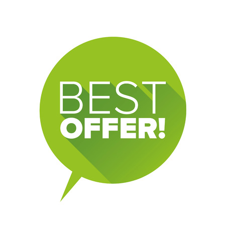 Green Best offer flat design
