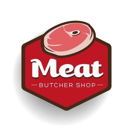 deli: Meat - butcher store label or badge