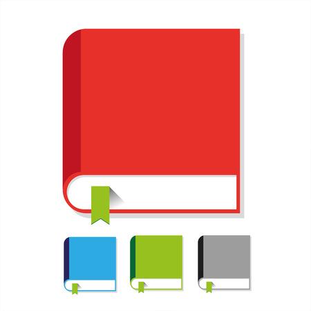 Book icon vector flat set Ilustrace