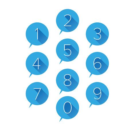 Numbers set blue illustration. Banco de Imagens - 37055172