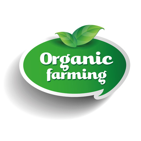 Organic farming label Illustration