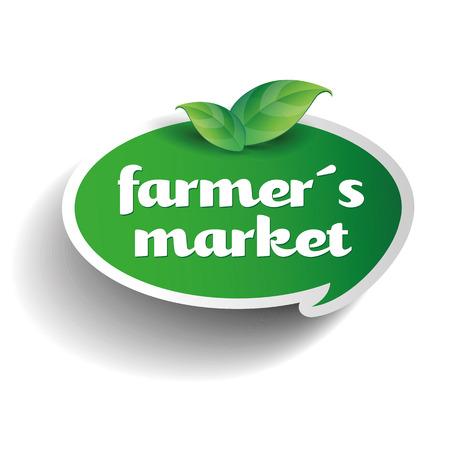 local farmer's market label Reklamní fotografie - 37054971