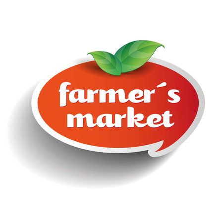 farmers market: local farmers market label