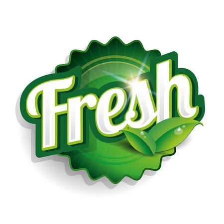 fresh food label, badge or seal Illustration