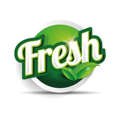 preservatives: fresh food label, badge or seal Illustration