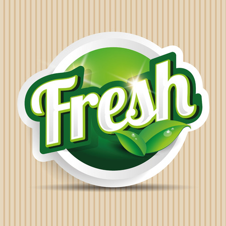 inspected: fresh food label, badge or seal Illustration