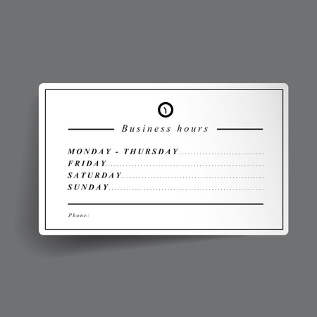 come back: Business hours template