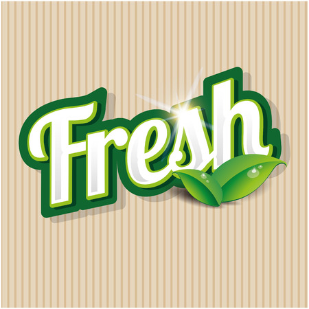 inspected: Fresh product label Illustration