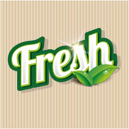 preservatives: Fresh product label Illustration