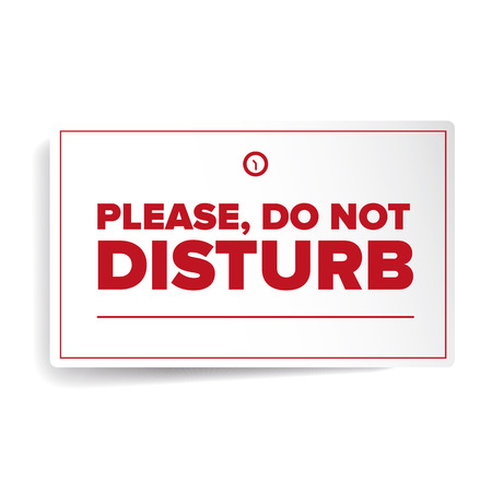 to disturb: Do Not Disturb label