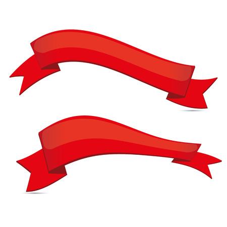빨간 리본 세트 일러스트