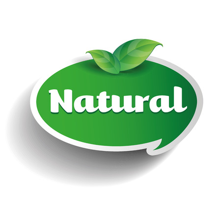 Natural label tag Stockfoto - 37054717