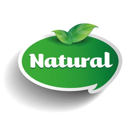 Natural label tag