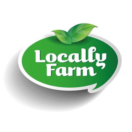 handmade soap: Locally farm label tag