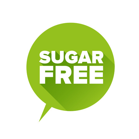 Sugar free Tag, Sticker or Badge For Healthy Illustration