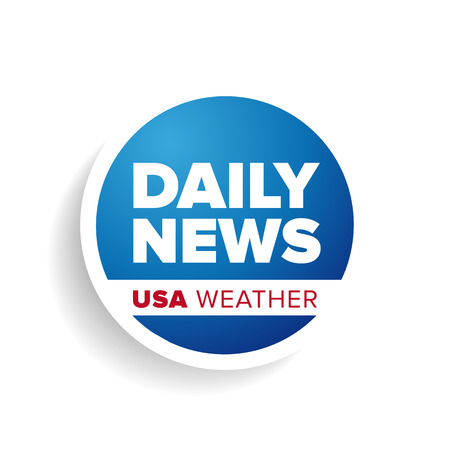 press news: Daily news USA weather label Illustration