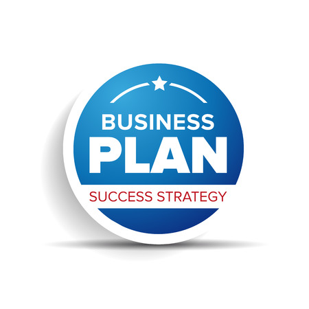 Business plan label or badge Vector