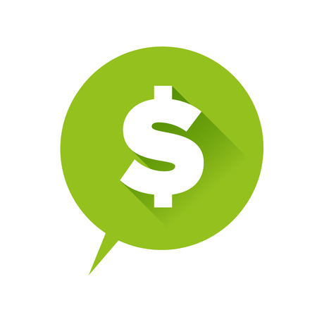 money pounds: Money icon - dollar sign green Illustration