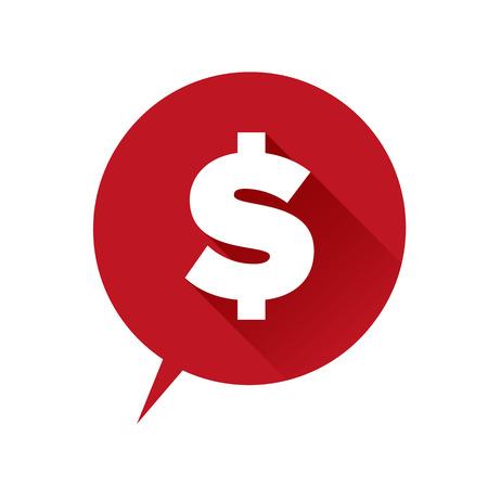 billing: Money icon - dollar sign red Illustration