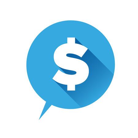 Money icon - dollar sign blue