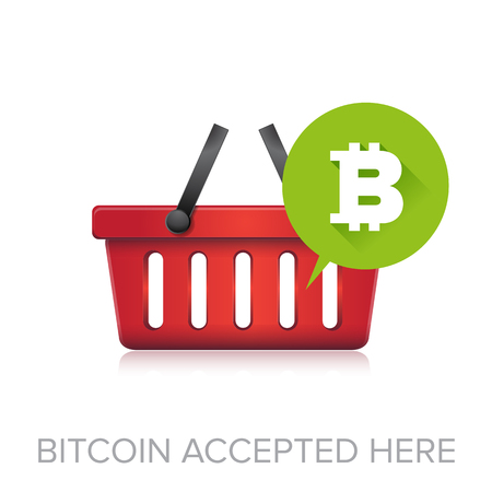 accepted: Bitcoin accepted here Illustration