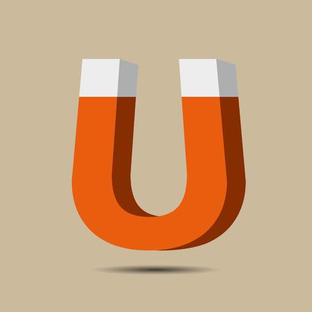 electromagnetism: Magnet Symbol icon. Electromagnetism symbol