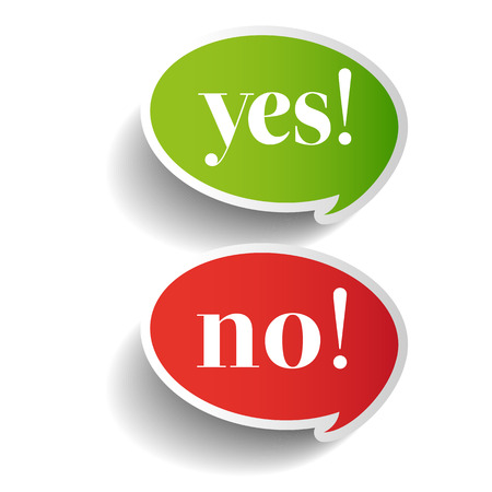 Yeas and No symbol label vector