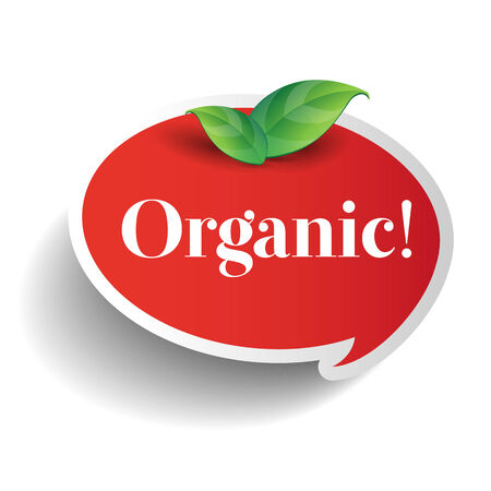 usda: Organic label or sticker for products Illustration