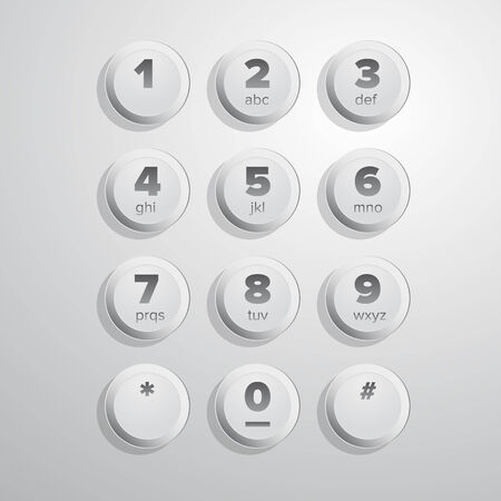 user interface: User interface keypad for phone