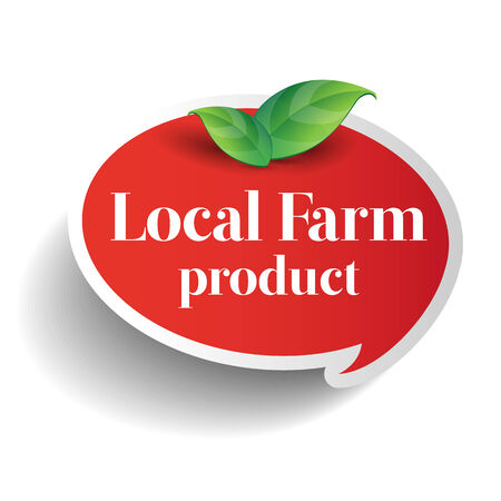 usda: Local farm product food label, badge or seal Illustration