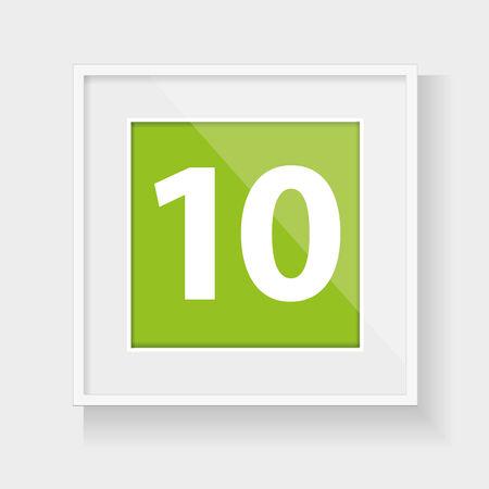 number ten: Marco cuadrado con el n�mero diez
