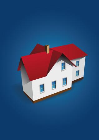 proprietary: Vector house on dark-blue background