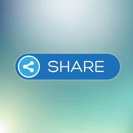 quadrate pictogram: Modern user interface element - Share