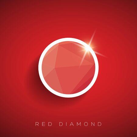 red diamond: Red diamond vector