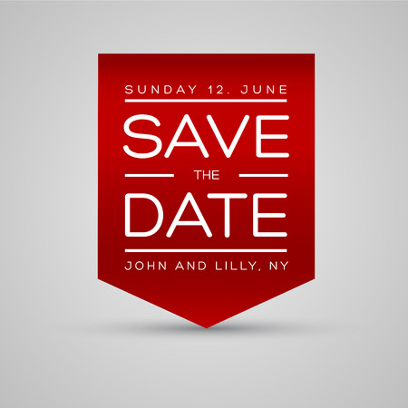 save the date template vector Ilustracja