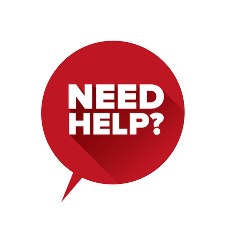 Need help? Flat design vector Illustration