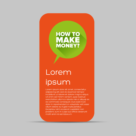 How to make money? Flat design vector