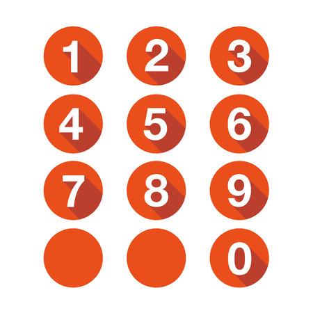 番号を設定します。ベクトル フラットなデザイン