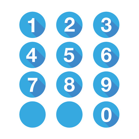 Nummers in te stellen. Vector plat ontwerp Stock Illustratie
