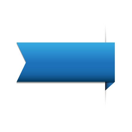 ブルーのリボン  イラスト・ベクター素材