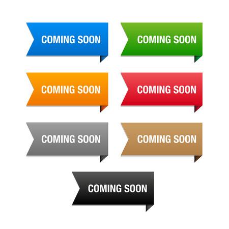 Coming soon paper corner Banco de Imagens - 37170965