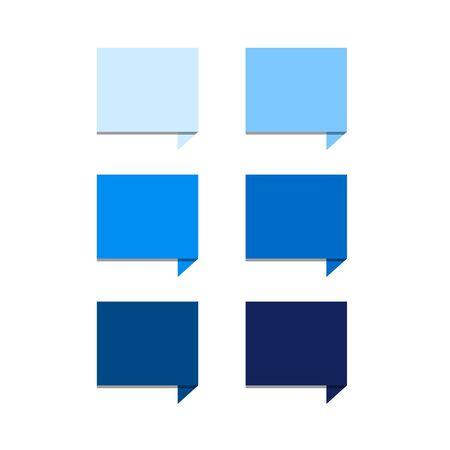 set square: Blue set square speech bubbles