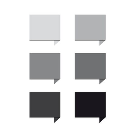 greyscale: Greyscale set square speech bubbles