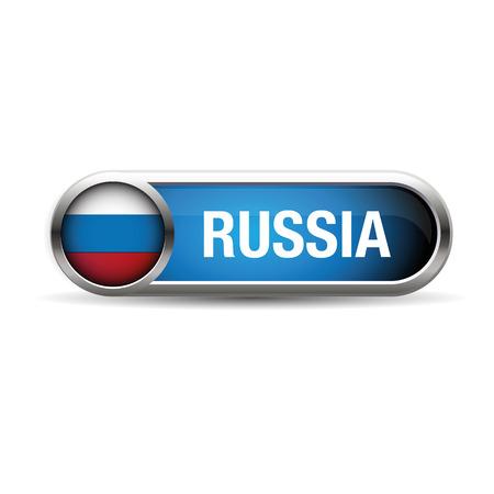 bandera rusia: Bot�n del indicador de Rusia Vectores