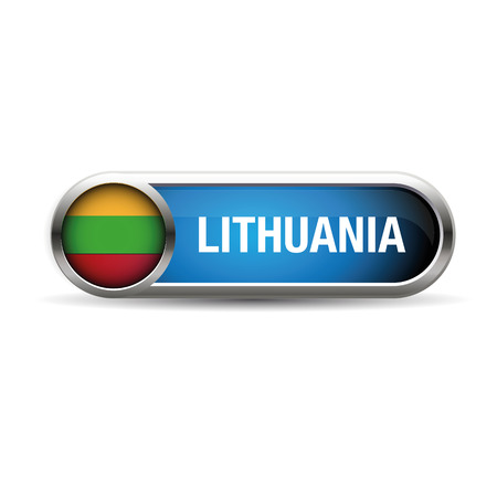 lithuania: lithuania flag gel metal button