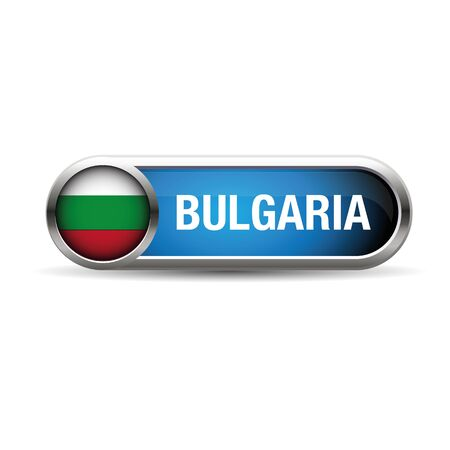 bulgarian: The Bulgarian flag in the form of a glossy icon.