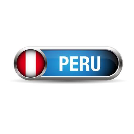 bandera de peru: bot�n met�lico gel bandera Per� Vectores